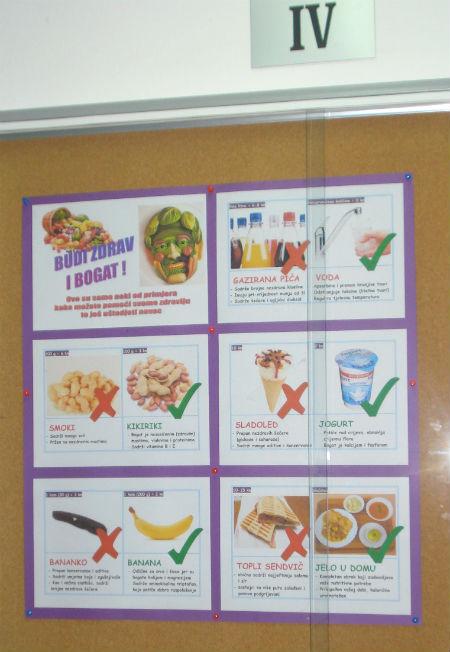 zdrava prehrana plakat